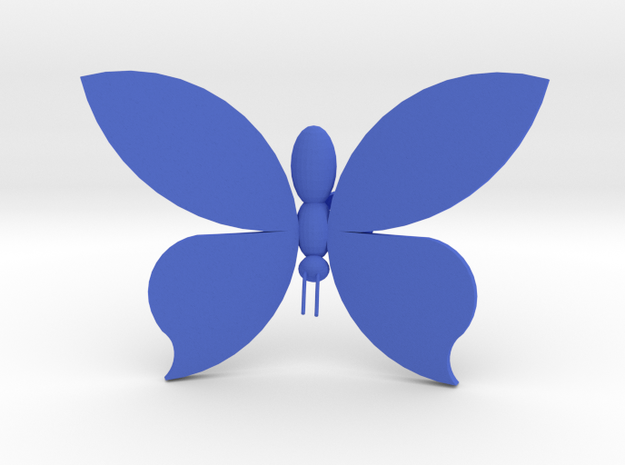 Burtterfly On Your Wall - Big in Blue Strong & Flexible Polished