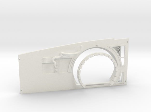 Starboard Wall Replacement for DeAgo Falcon in White Natural Versatile Plastic