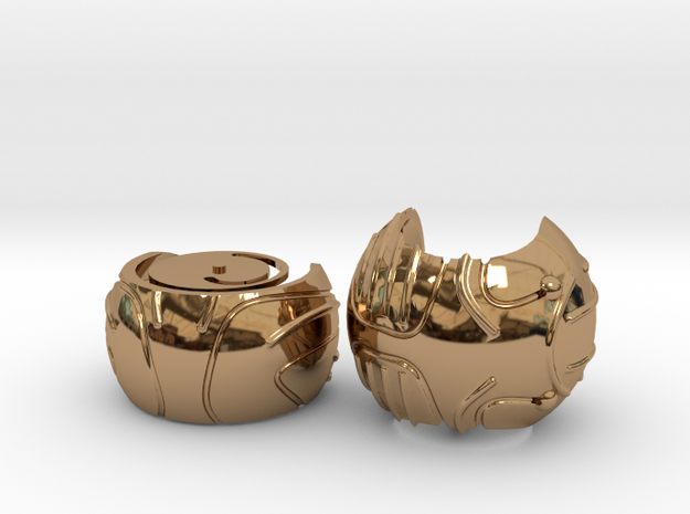 Harry's First Snitch Ring Box-Pt.1-Body-Cust. Text in Polished Brass