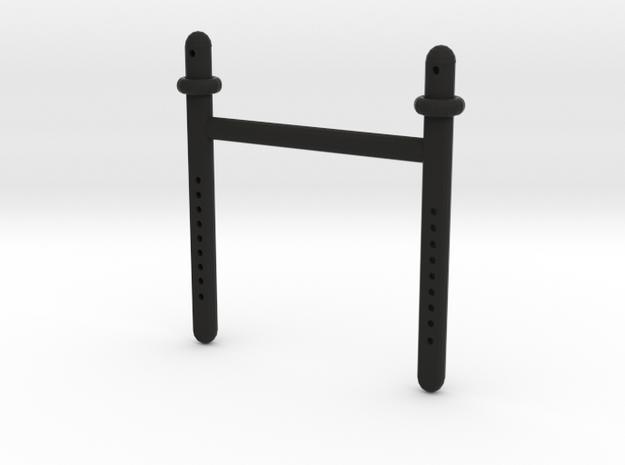 Scx10 Long Front Body Shaft Dual in Black Natural Versatile Plastic