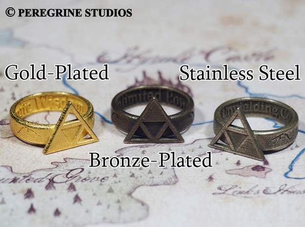 Ring - Triforce of Power 3d printed