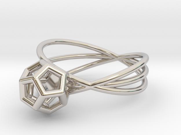 Essential Simplicity - Ring in Rhodium Plated