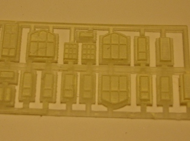Carlisle & Settle Line - Small Station - T - 1:450 3d printed windows and doors with primer