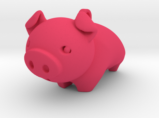 Cute Piggy in Pink Strong & Flexible Polished