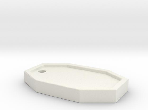 Hextag in White Natural Versatile Plastic