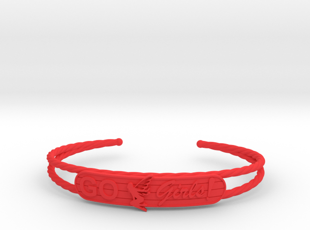 Go Girls Bracelet in Red Processed Versatile Plastic
