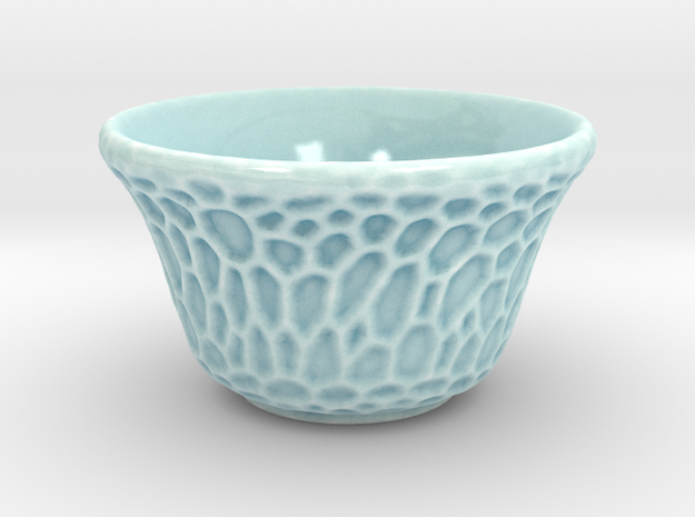 DRAW tea bowl - grandiose cellulose in Gloss Celadon Green Porcelain