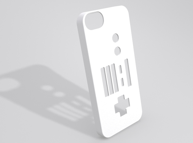 NES Controller iPhone 5 case in White Strong & Flexible