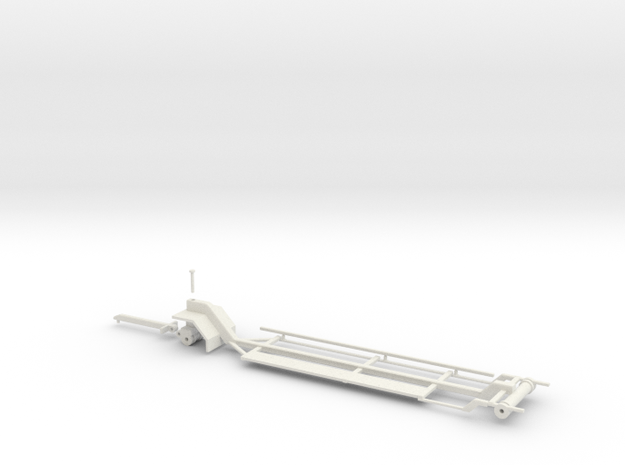 1/64 Silage Header Trailer in White Natural Versatile Plastic