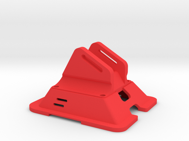 Black Bolt XBR Canopy FPV Mount in Red Processed Versatile Plastic