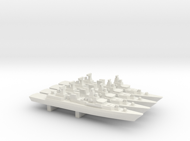 Brandenburg-class FFG x 4, 1/2400 in White Natural Versatile Plastic