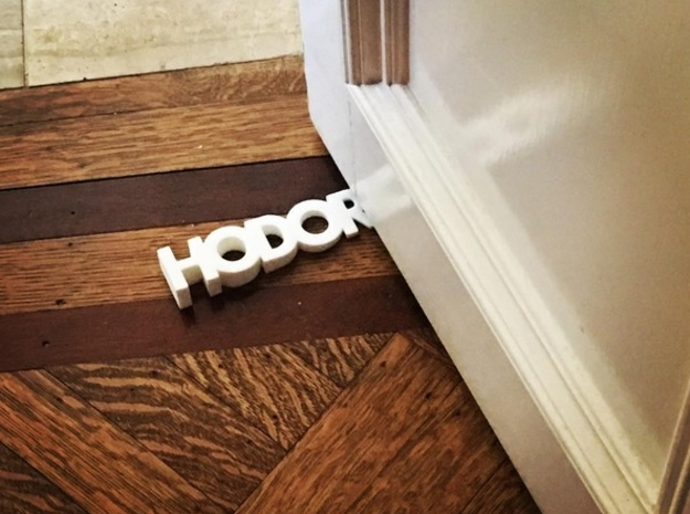 HODOR door stopper in Black Strong & Flexible