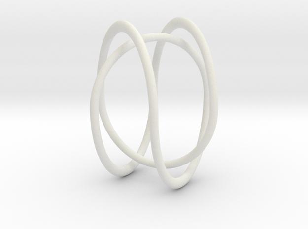 2butterflyTrefoil in White Natural Versatile Plastic