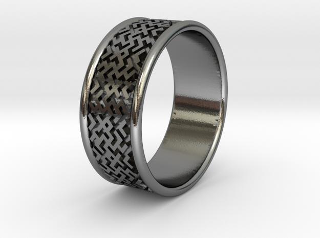 Slavic style wedding ring 16mm (5.5 US size)