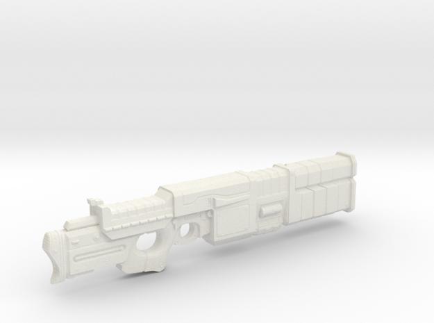1/18th Scale Railgun MK II in White Natural Versatile Plastic