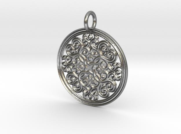 Celtic Shield pendant (precious metals)