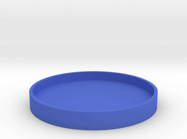 Okito Box Lid USA Half Dollar in Blue Processed Versatile Plastic