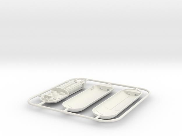 Star trek 9cm PHOTON torpedo in White Natural Versatile Plastic