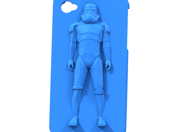 stormtrooper case iphone 4 3d printed