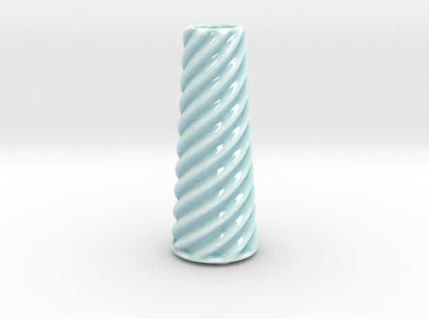 DRAW vase - C ceramic in Gloss Celadon Green Porcelain