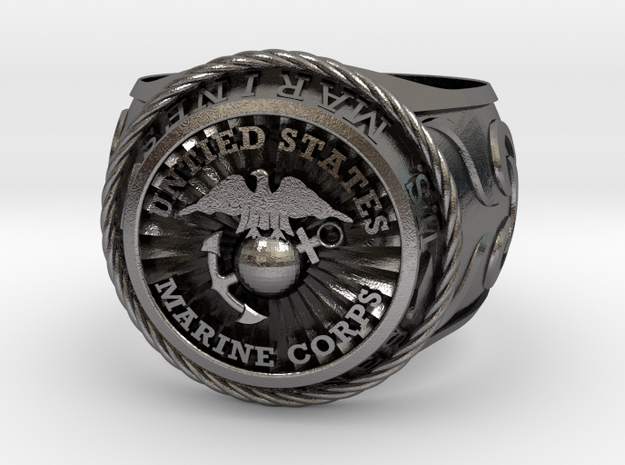 Marines size 14 in Polished Nickel Steel