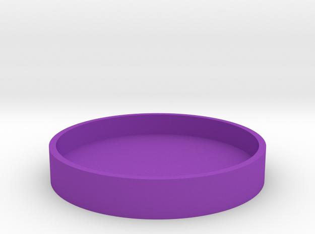 Okito Box Lid USA Quarter in Purple Processed Versatile Plastic