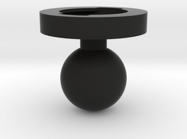 Garmin Edge Female Mount To 1 Inch Ball Male in Black Natural Versatile Plastic