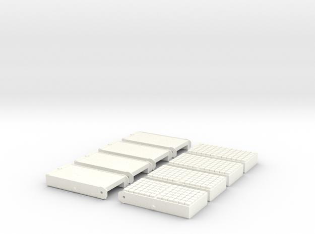 1.8 FLARES SUPER PUMA (C/C) in White Processed Versatile Plastic
