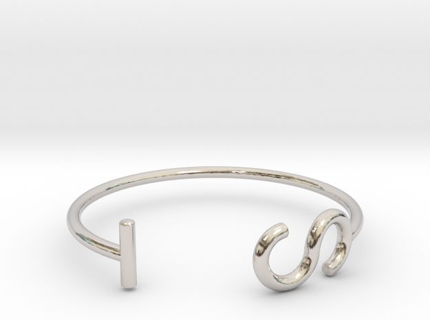 S & T Letter Series - Ring 18.5 mm in Platinum