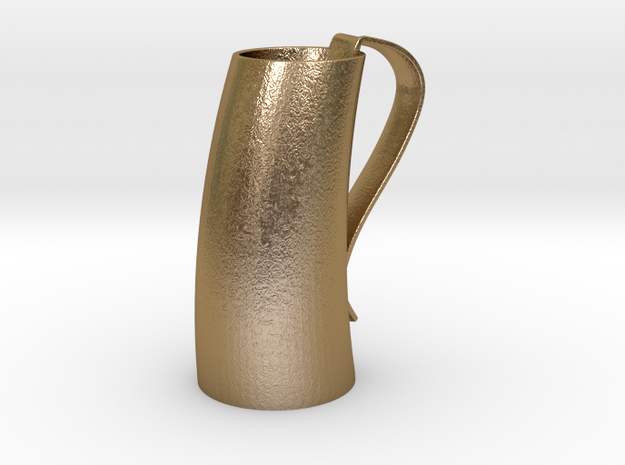 Game of Thrones Horn Mug in Polished Gold Steel