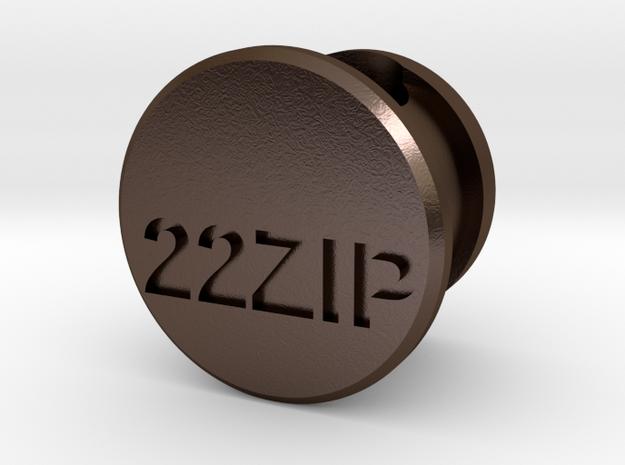 22 Zipper Mag Tube Plug in Polished Bronze Steel