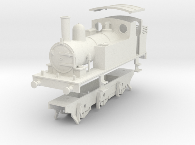 0 Gauge kit for LNER J65 class in White Natural Versatile Plastic