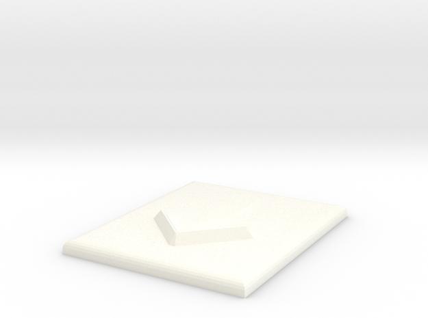 Pfeil nach unten in White Processed Versatile Plastic