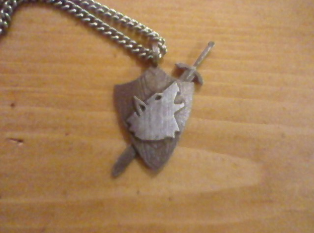 Shield Pendant in Stainless Steel