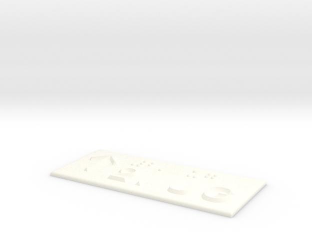 2.UG mit Pfeil nach oben in White Processed Versatile Plastic