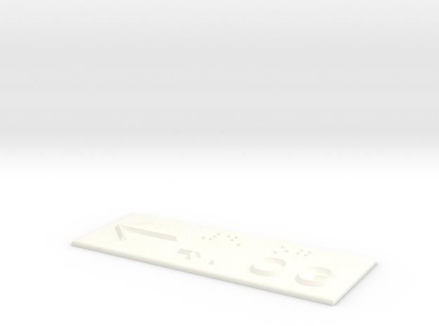 4.OG mit Pfeil nach links in White Processed Versatile Plastic