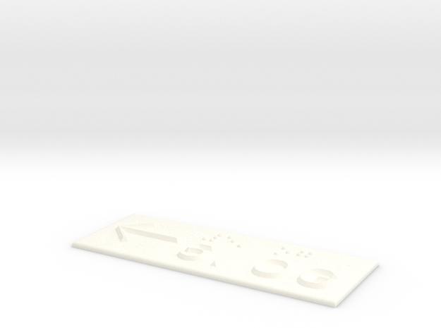 5.OG mit Pfeil nach links in White Processed Versatile Plastic