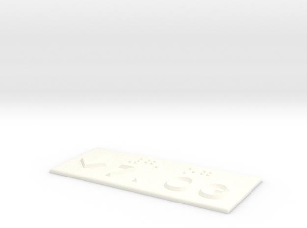 7.OG mit Pfeil nach unten in White Processed Versatile Plastic