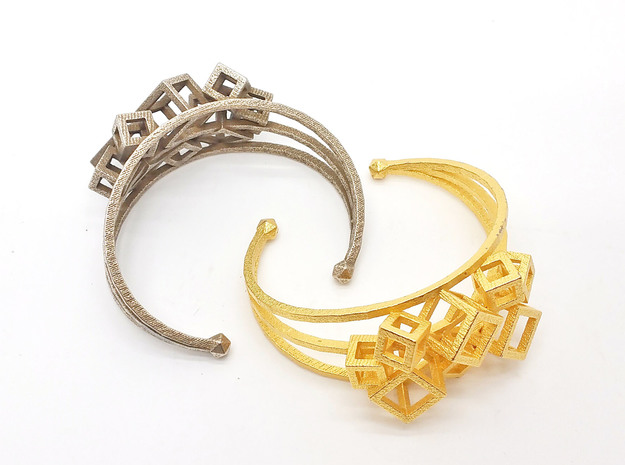 Cube Cuff in Stainless Steel