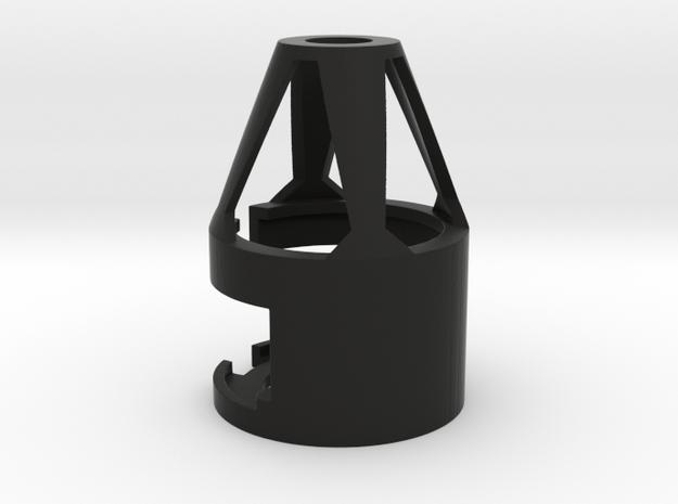 """1.24"""" 28mm Speaker/Recharge Port Holder in Black Natural Versatile Plastic"""
