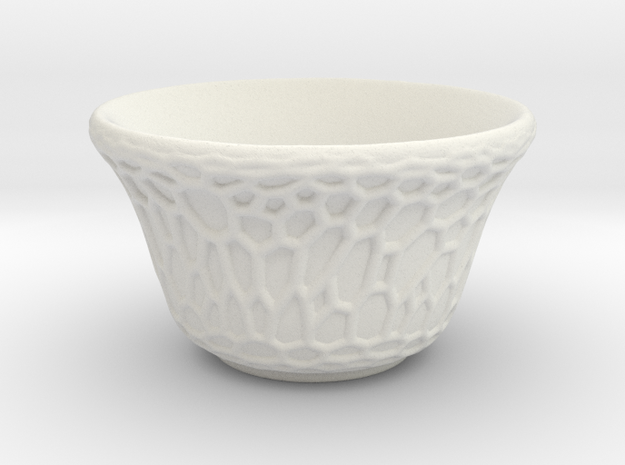 DRAW tea bowl - grandiose cellulose in White Natural Versatile Plastic
