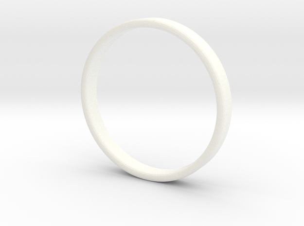 Ring For Ed - Size 11,5 - 3mm Wide - 1,2mm Thick in White Processed Versatile Plastic
