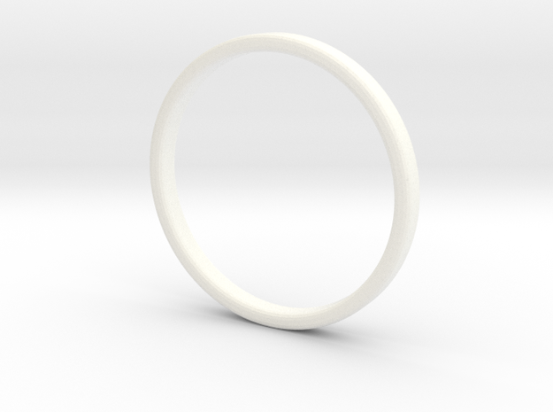 Ring For Cindy - Size 8 - 2mm Wide - 1,2mm Thick in White Processed Versatile Plastic