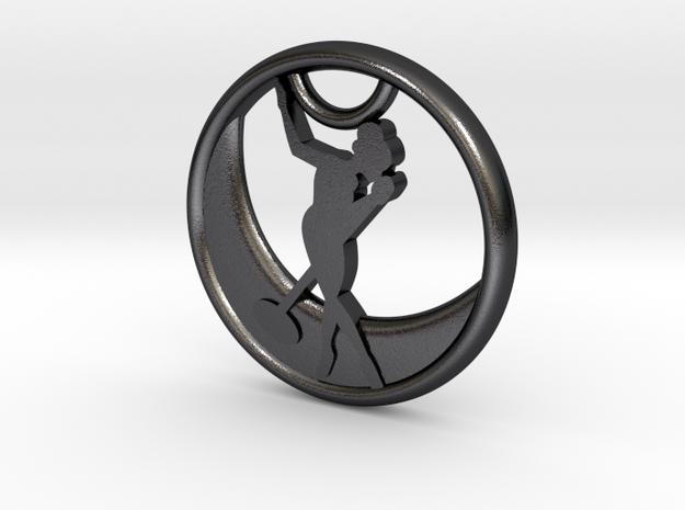 Playa Jazz Moon Pendant in Polished and Bronzed Black Steel