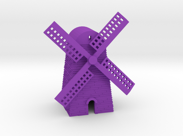 Windmill in Purple Processed Versatile Plastic