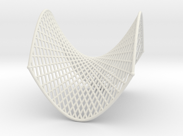 Hyperbolic Paraboloid Ruled Thin in White Strong & Flexible