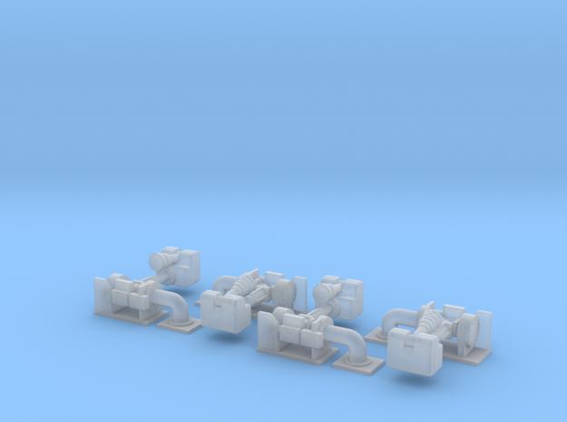 Wasserwerfer Alco 4 st - 1/87 in Smoothest Fine Detail Plastic