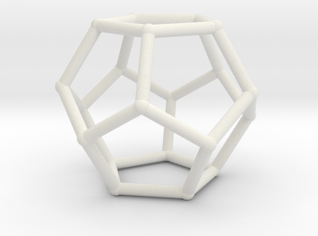Dodecahedron with nubs in White Strong & Flexible