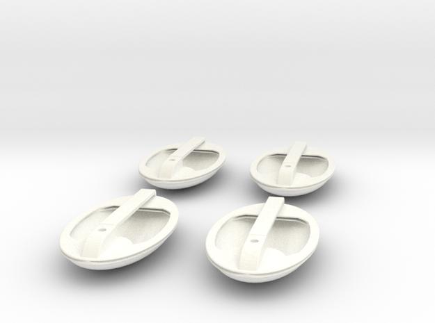1.5 EC155 POIGNEES DE PORTES X4 in White Strong & Flexible Polished