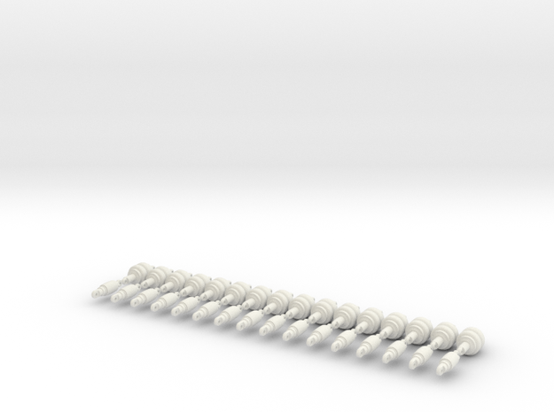 1/24 Shockwave Air Struts. set of 32 total struts in White Strong & Flexible